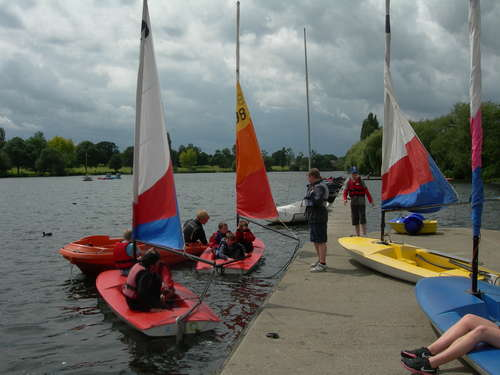 Sailing in Danson Park